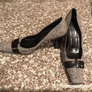 Givenchy Tweed square toe heels